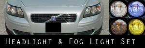 04.5-07 Volvo S40 Headlight and Fog Light Protection Kit