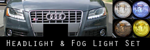 08-12 Audi A5 and S5 Headlight and Fog Light Protection Kit