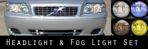 04-06 Volvo S80 Headlight and Fog Light Protection Kit