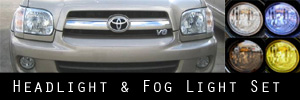 05-07 Toyota Sequoia Headlight and Fog Light Protection Kit