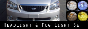 04-06 Kia Spectra and Spectra5 Headlight and Fog Light Protection Kit