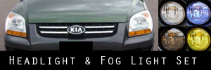 05-06 Kia Sportage Headlight and Fog Light Protection Kit