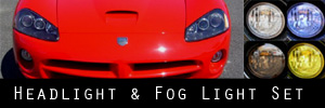 03-10 Dodge Viper SRT-10 Headlight and Fog Light Protection Kit