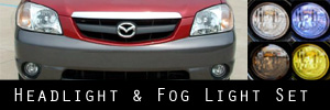05-06 Mazda Tribute Headlight and Fog Light Protection Kit