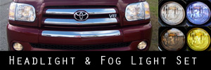 05-06 Toyota Tundra Double Cab Headlight and Fog Light Protection Kit