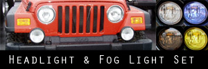 97-06 Jeep Wrangler Headlight and Fog Light Protection Kit