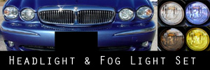 02-08 Jaguar X-Type Headlight and Fog Light Protection Kit