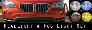 13-15 BMW X1 Headlight and Fog Light Protection Kit