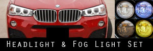 15-18 BMW X4 Headlight and Fog Light Protection Kit