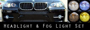 08-13 BMW X6 Headlight and Fog Light Protection Kit