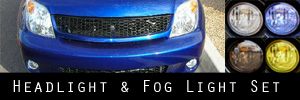 04-06 Scion xA Headlight and Fog Light Protection Kit