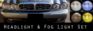 04-07 Jaguar XJ Headlight and Fog Light Protection Kit