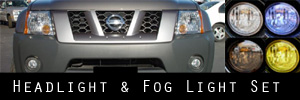 05-14 Nissan Xterra Headlight and Fog Light Protection Kit
