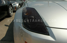 Nissan 350Z Smoked Headlight Protection Kit