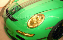 Porsche 997 GT3 Yellow Headlight Protection Kit