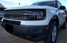 Ford Bronco Sport Light Smoked Headlight Protection Ki