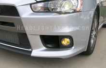 Mitsubishi Evolution X GT Yellow Headlight Protection Kit