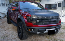 Ford F150 Raptor Light Smoked Headlight Protection Ki