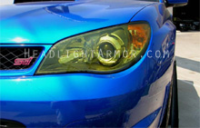 Subaru WRX STI GT Yellow Headlight Protection Kit