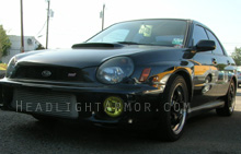 Subaru WRX GT Yellow Fog Light Protection Kit