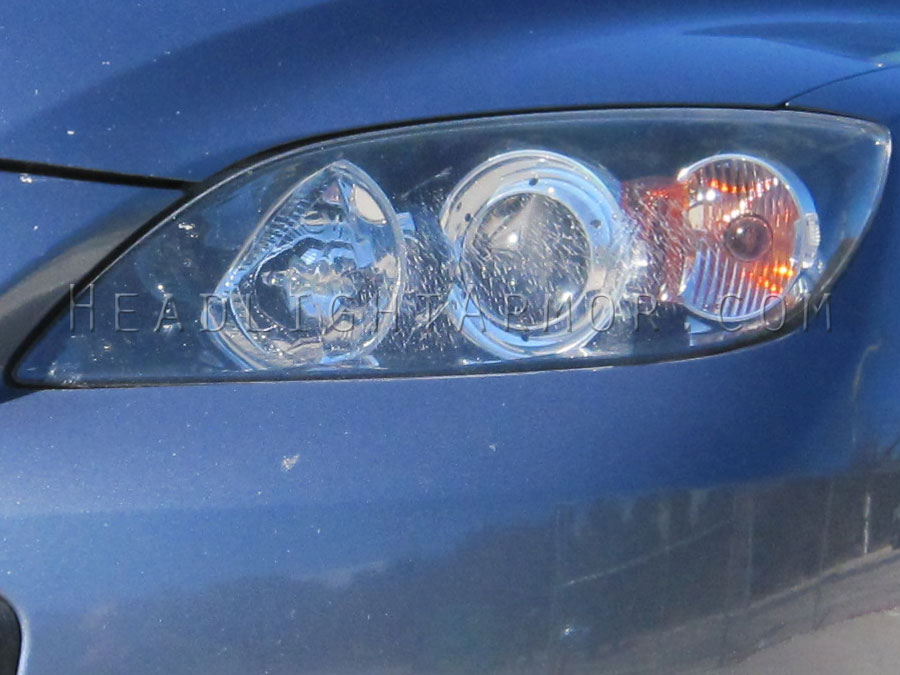 Unprotected Crazing Headlight