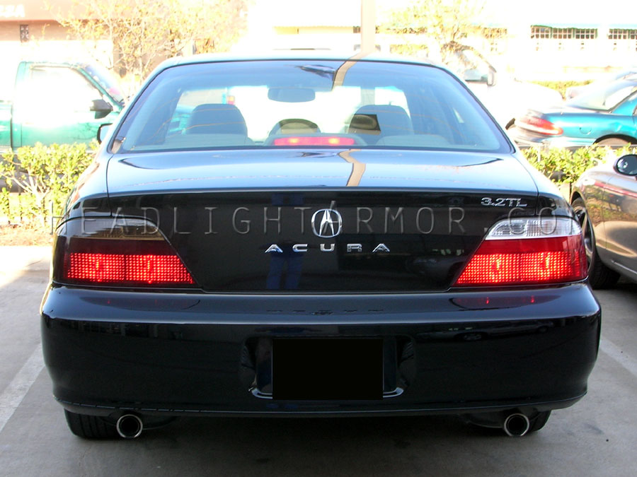 Acura Tl Smoked Taillight Kit Vs Stock Brakes On