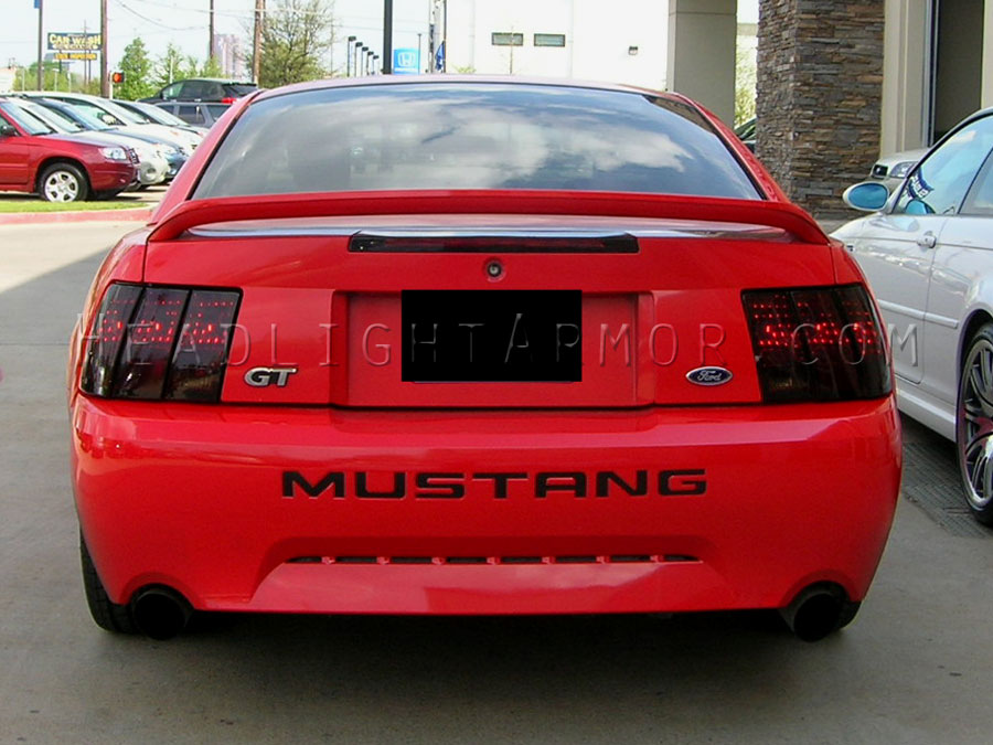 99 04 ford mustang smoked taillight film kit 99 04 ford mustang smoked taillight