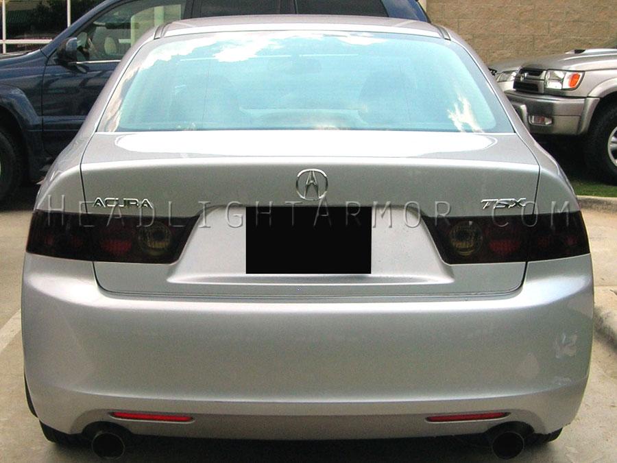 04 08 acura tsx smoked taillight film kit rh headlightarmor com Acura TSX Repair Manual 2004 Acura TSX Service Manual