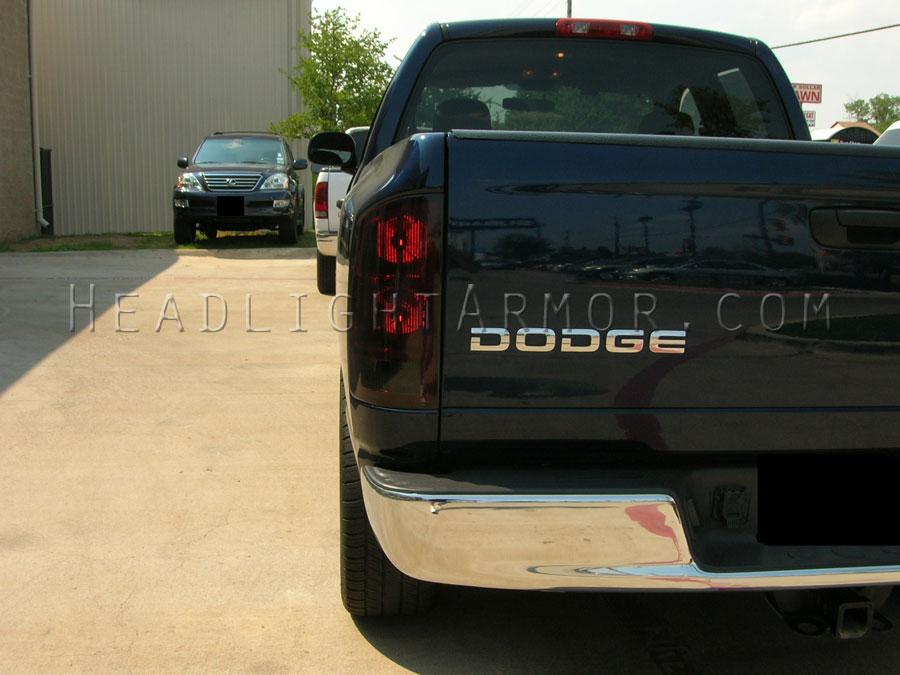 Dodge Ram Smoke Taillight Film Kit Running Lights On