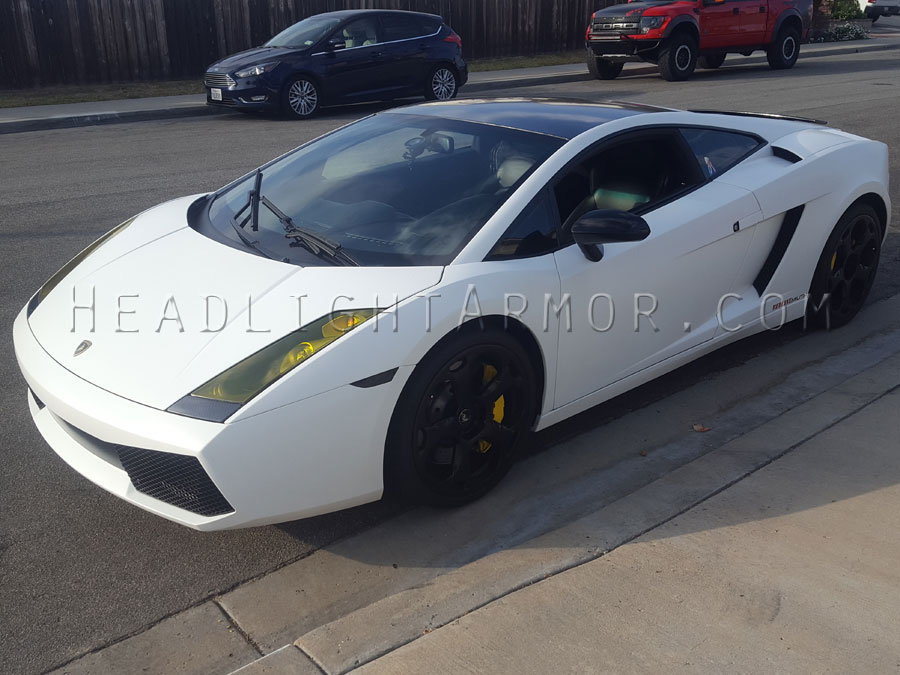 03 08 Lamborghini Gallardo Headlight Protection Film Kit