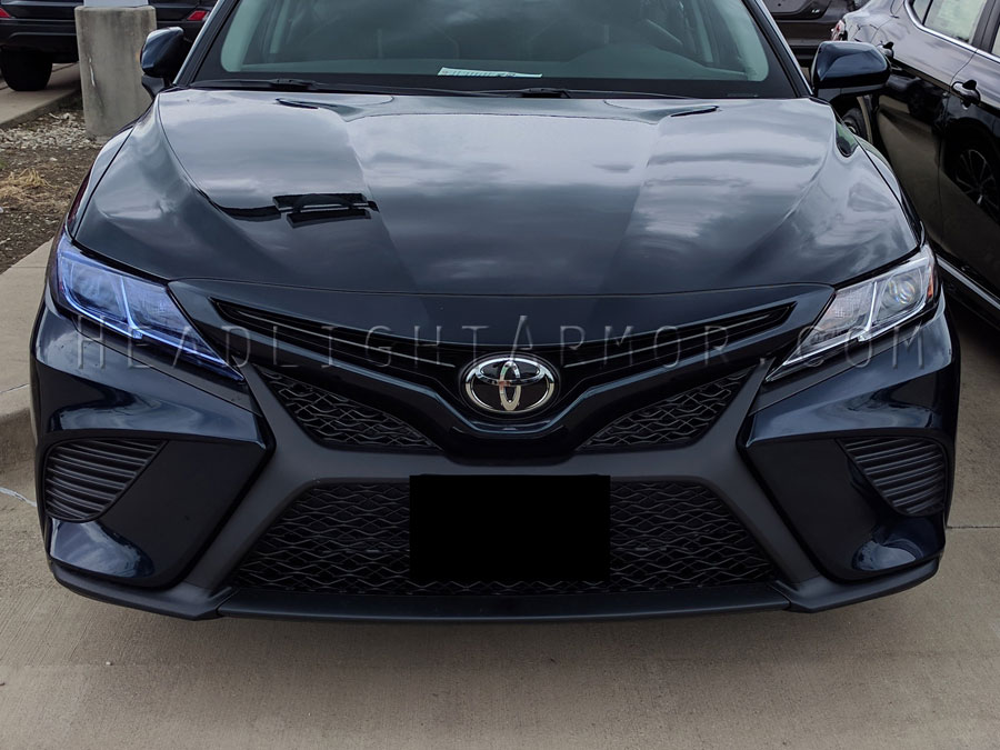 Headlight Protection Film Toyota Camry Hid Blue Vs Stock
