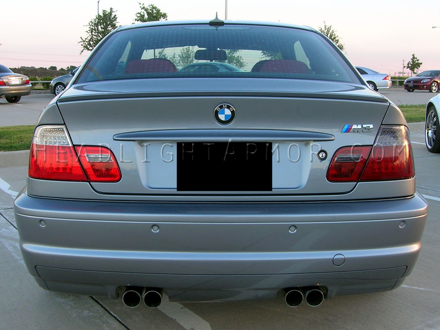 00 06 Bmw 3 Series M3 Coupe Smoked Taillight Film Kit