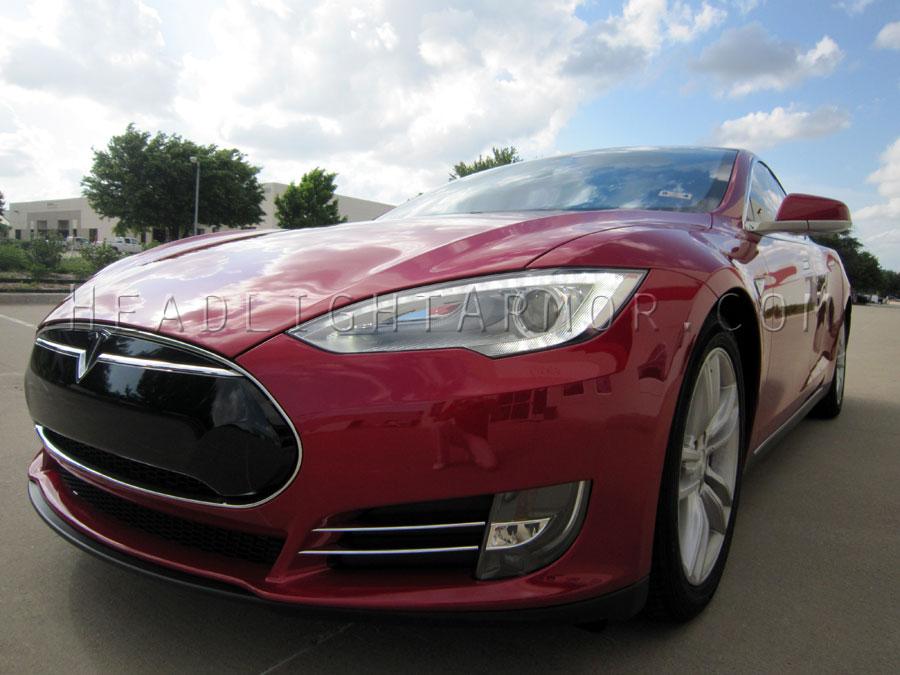 12-15 Tesla Model S Headlight and Signal / Fog Light Protection Film