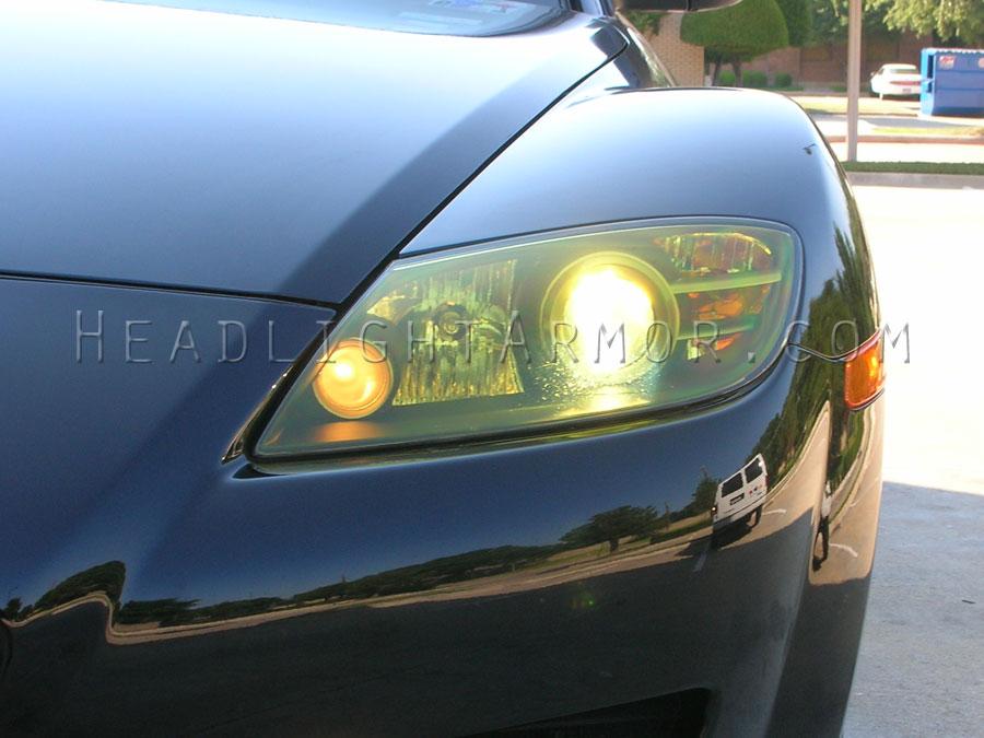 04 08 mazda rx8 headlight and fog light protection film kit